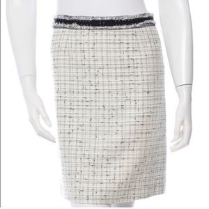 Rebecca Taylor Tweed Pencil Skirt